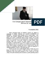 Curs Liturgica Anul IV