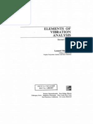 Fundamentals of vibrations meirovitch pdf