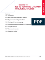16 Approaches to Teaching Literary and Cultural Studies