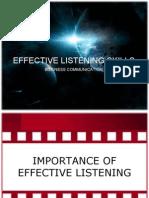 Effective Listening Skills - Presentation