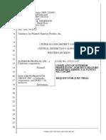 Superior Profiles v. Nox-Crete Products Group Et. Al.