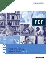 Directors Social Impact Study 2013