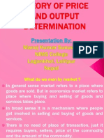 Theory of Price and Output Determination