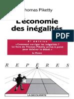 Thomas Piketty-L'Economie Des Inegalites