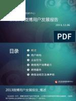 2013年微博用户发展报告