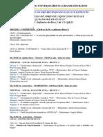 Programação Seminário 2014