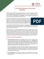 Economics - Pre-Crisis Consensus vs vs. Post-Crisis Confusion