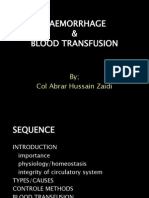 Haemorrhage Shock Transfusion