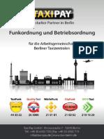 Taxi Berlin Funkordnung Stand Jan 14