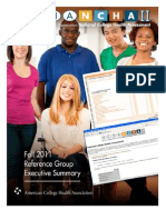 ACHA-NCHA-II ReferenceGroup ExecutiveSummary Fall2011