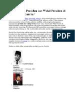 Daftar Nama Presiden Dan Wakil Presiden Di Indonesia