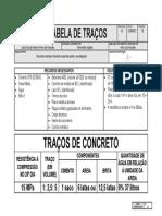 Tabela de Traco