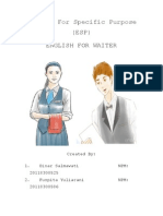 English for Specific Purpose for WAITER