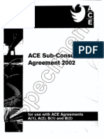 ACE Subconsultancy Agreement