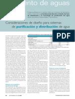 Articulo Consideraciones de Diseno Para Sistemas de Purificacion y Distribucion de Agua Www.farmaindustrial.com