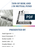 Valuation of Risk and Return in Mutual Fund