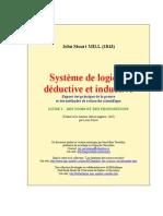 Système de logique déductive et inductive - LIVRE I