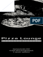 Speisekarte Pizza Lounge MG