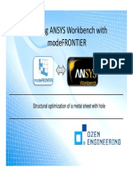 Coupling ANSYS Workbench With ModeFRONTIER