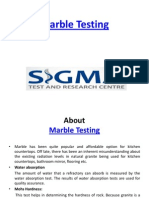 Marble Testing
