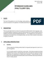 SLURRY SEAL GUIDELINE