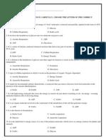 Evaluation Cellular Respiration