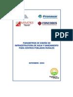 3 Parametros de Dise de Infraestructura de Agua y Saneamiento CC PP Rurales