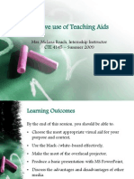 Effective Use of Teaching Aids
