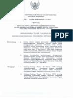 Peraturan Menteri Komunikasi Dan Informatika Nomor 23 Tahun 2011 Tentang Masterplan Frekuensi Radio