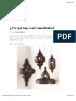 ¿Por qué hay cuatro madhhabs.pdf
