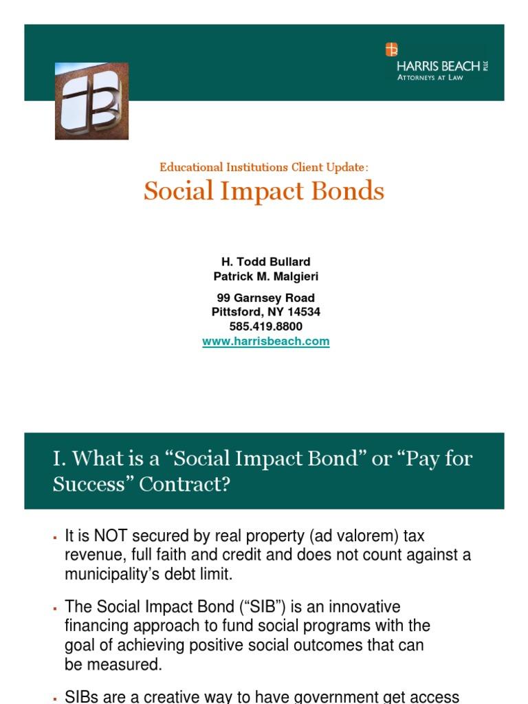Social Impact Bonds Power Point Economies Public Sphere
