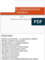 BUSINESS COMMUNICATION - Unit 1 - Business Communication Basics Copy