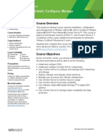 EDU DATASHEET vSphereInstallConfigureManage V5146