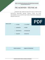 Especificaciones Tecnicas de Obras Exteriores