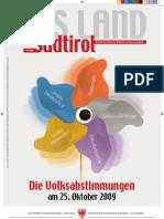 Volksabstimmungen - Zeitung DasLandSüdtirolOktober2009