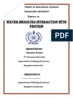 Water Mediated Interaction With Protein
