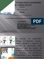 Procedimiento de Analisis Para Eliminar Manejo de Materiales.