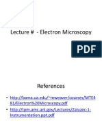 Electron Microscopy Lecture