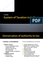 System of Taxation in India