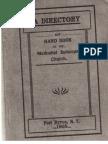 Methodist Episcopal Church Directory & Handbook, Port Byron, NY 1905