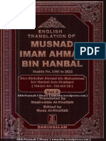 Musnad Ahmad Bin Hanbal, Arabic -English Translation-Volume 2