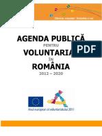 Agenda Publica Pt Voluntariat in Romania 2012 2020