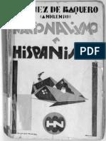 Gómez de Baquero Andrenio Nacionalismo e hispanismo