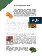 Alimentos Ricos en Proteínas Vitaminas y Minerales