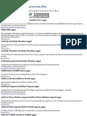 Description of Mac OS X processes : by triviaware pdf