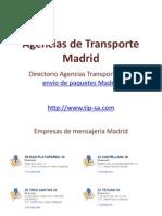 Agencias de Transporte Madrid