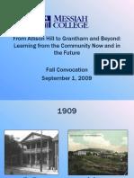 Fall 2009 Convocation Address