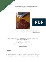 LA CONSISTENCIA EPISTEMOLÓGICA DE LAS TESIS DOCTORALES EN ADMINISTRACIÓN informe