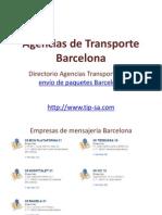 Agencias de Transporte Barcelona