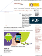 Como Configurar Internet Celulares Viva, Tigo y Entel_ Android Bolivia